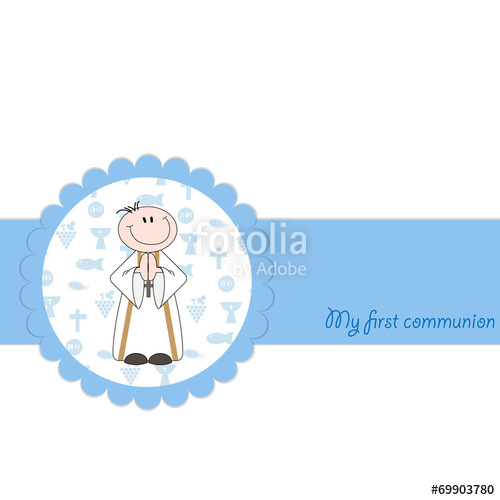 500x500 First Holy Communion Card Template Stock Image And Royalty Free