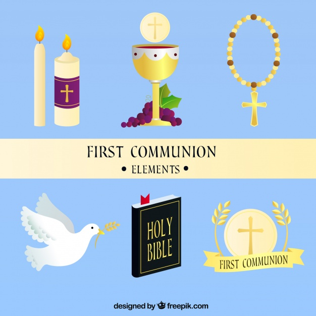 626x626 Chalice And Other Elements Of First Communion Vector Free Download