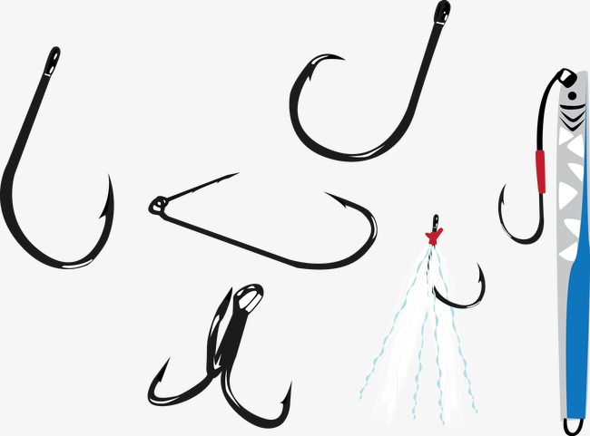 650x481 Vector Illustration Fishing Hook, Fishing Hook, Hooks, Vector Png
