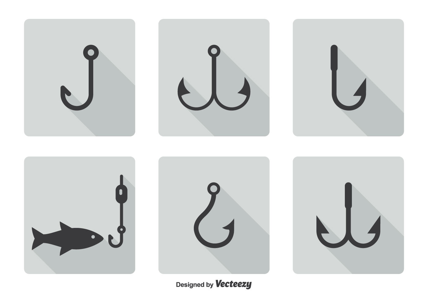 1400x980 Fish Hook Icon Set