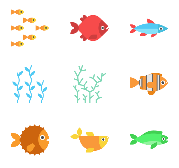 600x564 Fish Icons