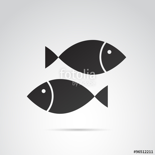 500x500 Fish Vector Icon. Stock Image And Royalty Free Vector Files On