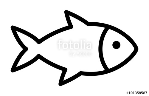500x322 Fish Or Seafood Line Art Icon For Food Apps And Websites Stock