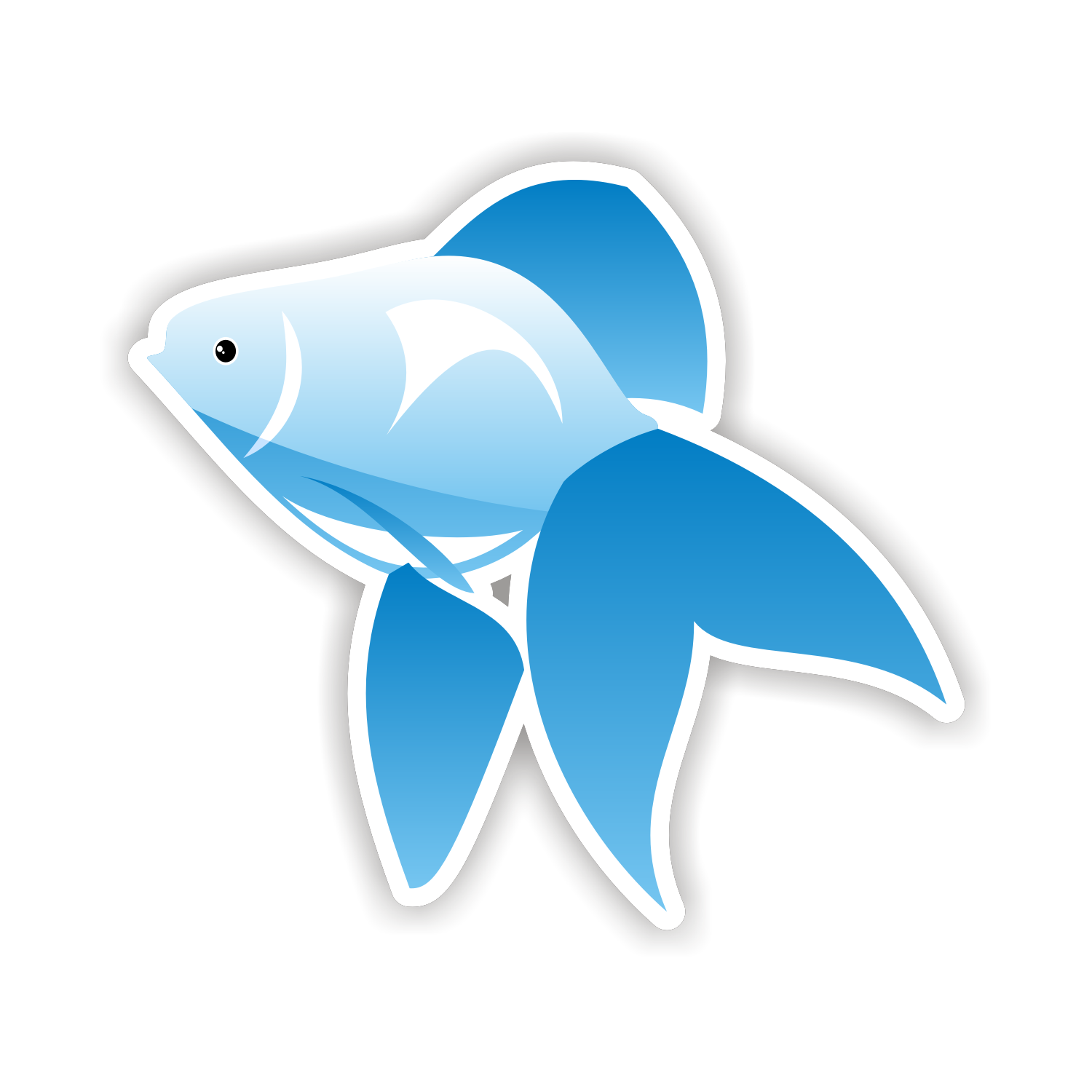 1500x1500 Vector For Free Use Blue Fish Icon