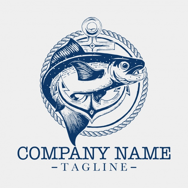626x626 Fish Logo Template Vector Free Download