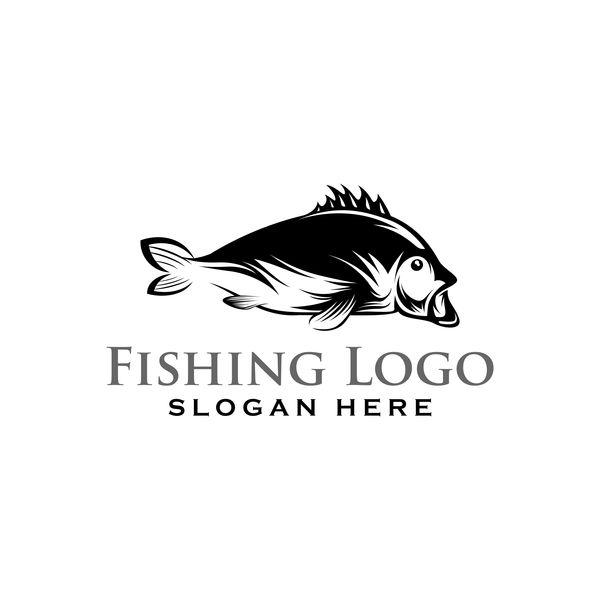 600x600 Fishing Logo Design Vector Material 07 Free Download