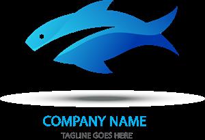 300x205 Blue Fish Logo Vector (.eps) Free Download