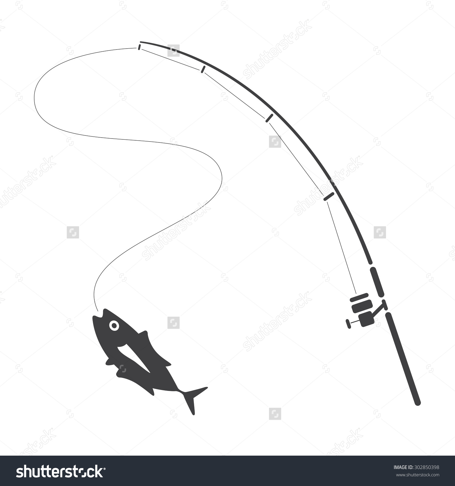 1500x1600 Fishing Line Vector