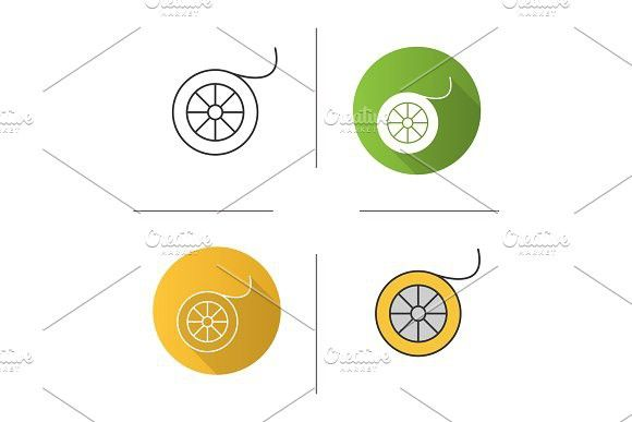580x387 Fishing Line Spool Icon