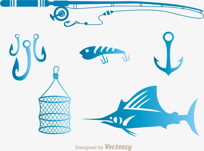 650x482 Vector Sea Fishing Line Hooks Nets Pole, Sea Clipart, Vector