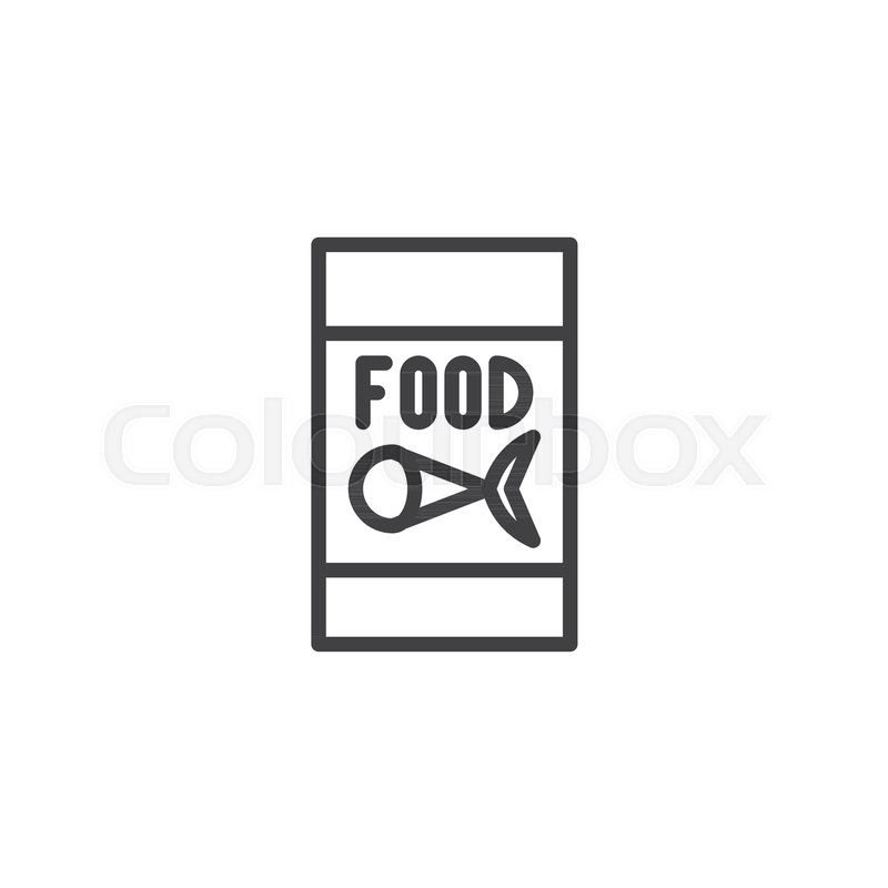 800x800 Fish Food For Fishing Line Icon, Outline Vector Sign, Linear Style