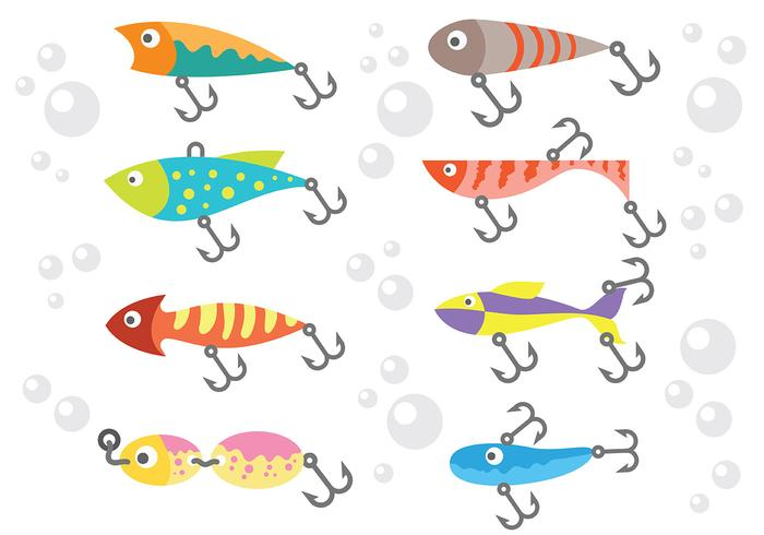 700x490 Free Fishing Lure Icons Vector