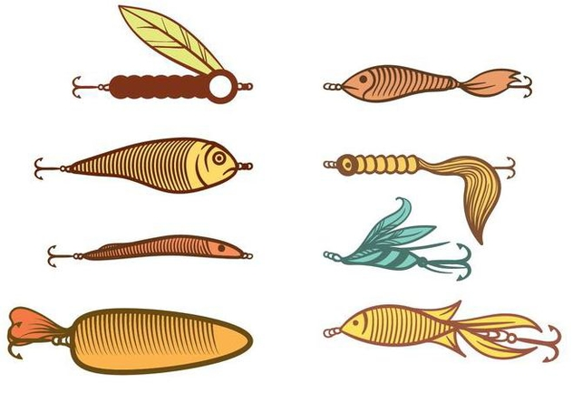 632x443 Free Fishing Lure Vector Free Vector Download 393673 Cannypic