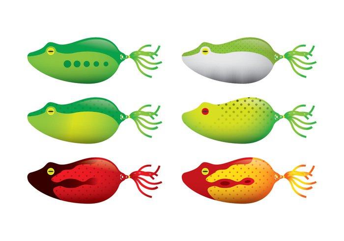 700x490 Frog Fishing Lure Vectors