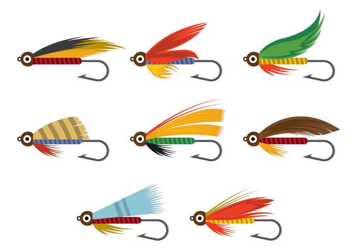 700x490 Vector Of Fly Fishing Lures Hook