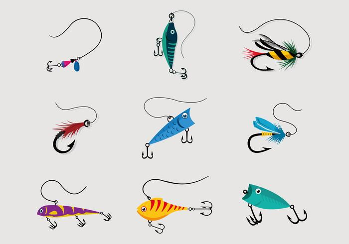 700x490 Colorful Fishing Lure Vector Pack