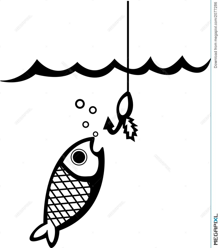 711x800 Fish And Fishing Lure Vector Illustration Illustration 2077286