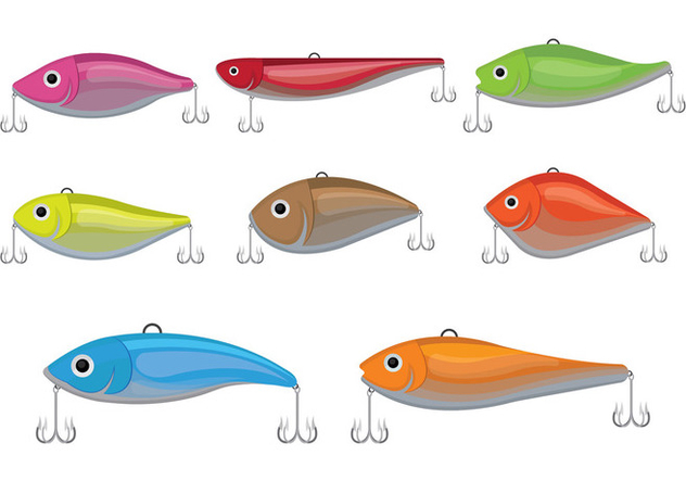 632x443 Fishing Lure Vector Icons Free Vector Download 398449 Cannypic