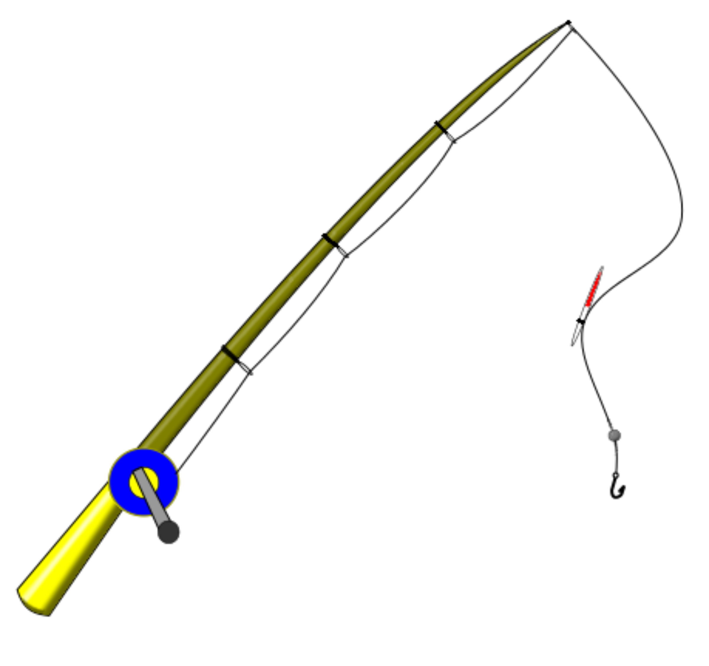 2400x2254 Fishing Rod Vector Clipart Image