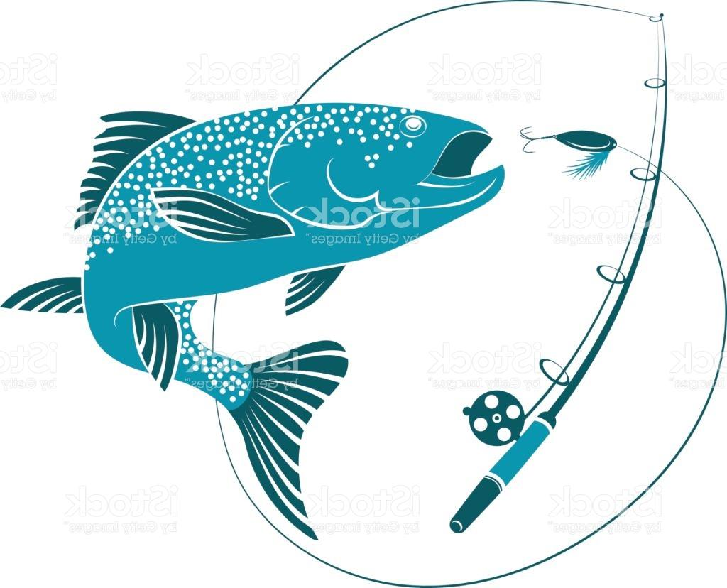 1024x828 Best Hd Fish Jumping For Bait And Fishing Rod Vector Image