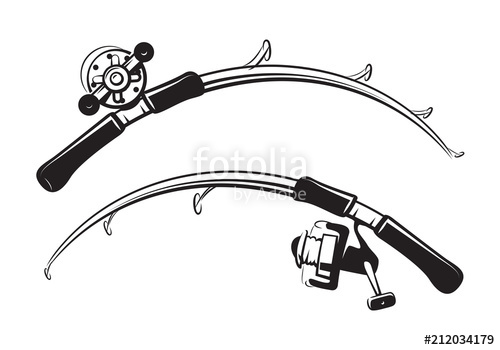 500x350 Graphic Fishing Rod, Vector Stock Image And Royalty Free Vector