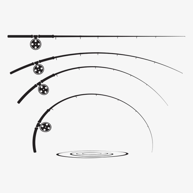 650x650 Curved Rod, Fishing Rod, Vector Rod, Fishing Tackle Png And Vector