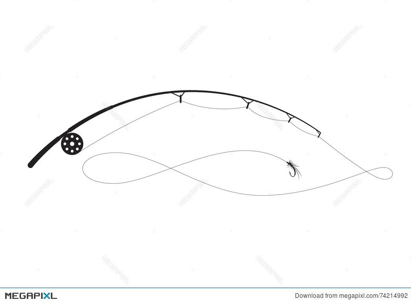 800x590 Fishing Rod, Vector Illustration 74214992