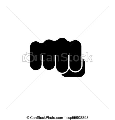 450x470 Fist Punch Flat Vector Icon. Fist Punch. Flat Vector Icon. Simple