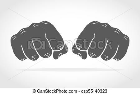 450x301 Fists Isolated. Vector Illustration. Fist Icons In Flat Design