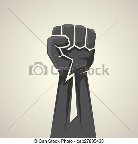 450x470 Freedom Concept. Vector Fist Icon. Fist Logo Vectors
