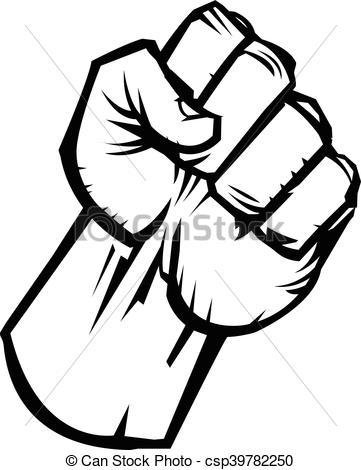 361x470 Raised Fist Vector Icon Clipart Vector
