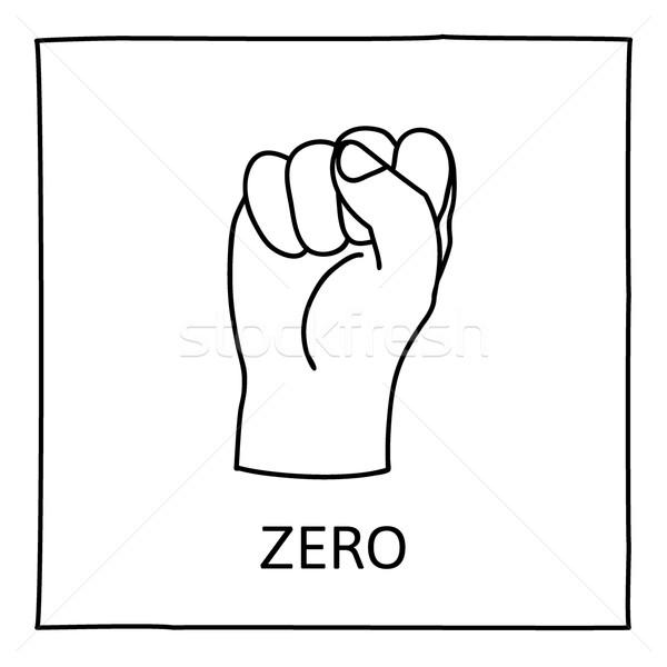 600x600 Doodle Zero Or Fist Icon Vector Illustration Pakete ( 7242520