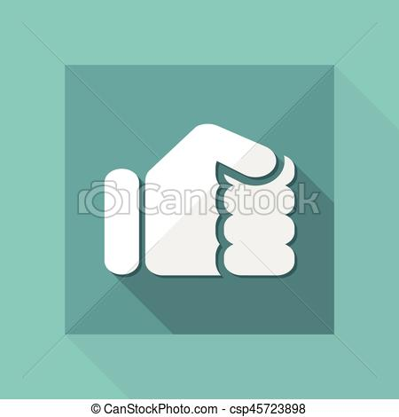 450x470 Vector Illustration Of Single Isolated Fist Icon.