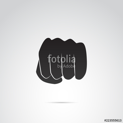 500x500 Fist, Punch Vector Icon. Stock Image And Royalty Free Vector