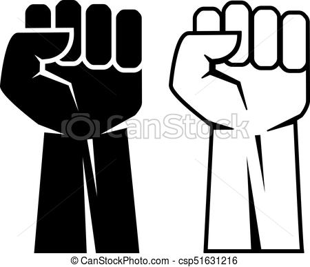 450x387 Fist Vector Icon. Fists Vector Icons Set.