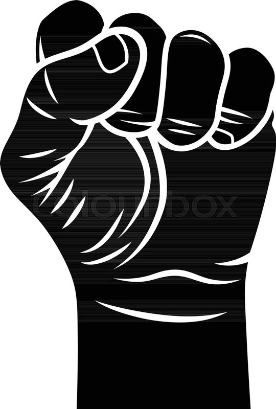540x800 Male Fist Vector Illustration. Fist Held In Protest. Revolt Symbol