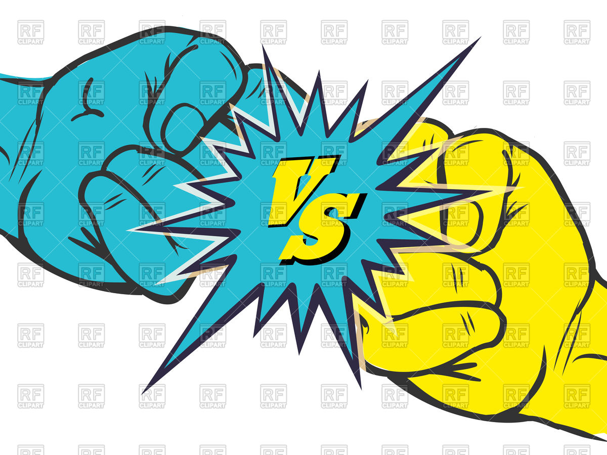 1200x900 Versus Rivalry Fist Vector Image Vector Artwork Of Icons And