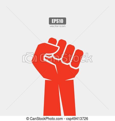 450x470 Fist Vector Poster. Man Fist Vector Poster.