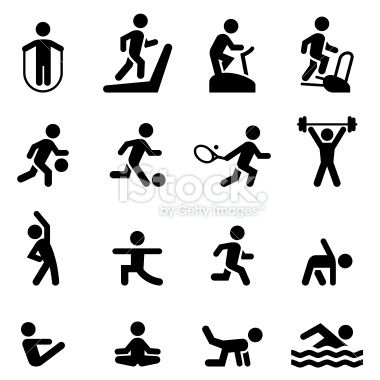 380x380 Health Club, Gym And Athletic Icon Set. Professional Icons For