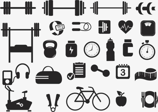 650x460 Vector Fitness Equipment Icon, Fitness Vector, Icon Vector