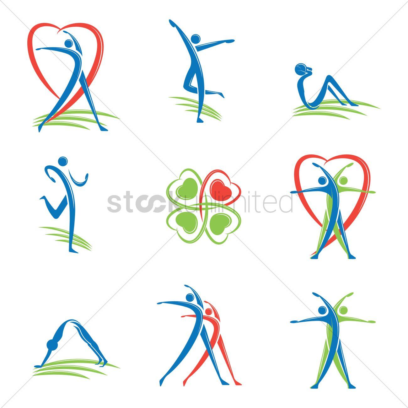 1300x1300 Fitness Logo Vector Image