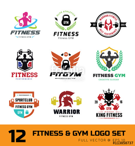 462x500 Fitness Logo Set, Gym Logo, Cross Fit Logo,women Fitness Logo,yoga