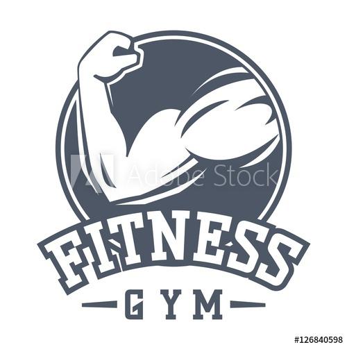 500x500 Gym Fitness Logo Vector Badge.