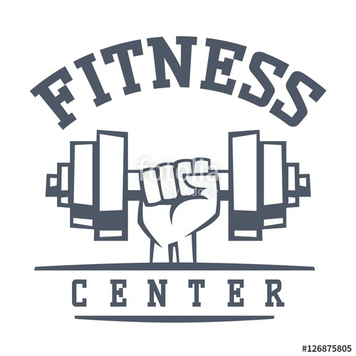 500x500 Gym Fitness Logo Vector Badge. Stock Image And Royalty Free