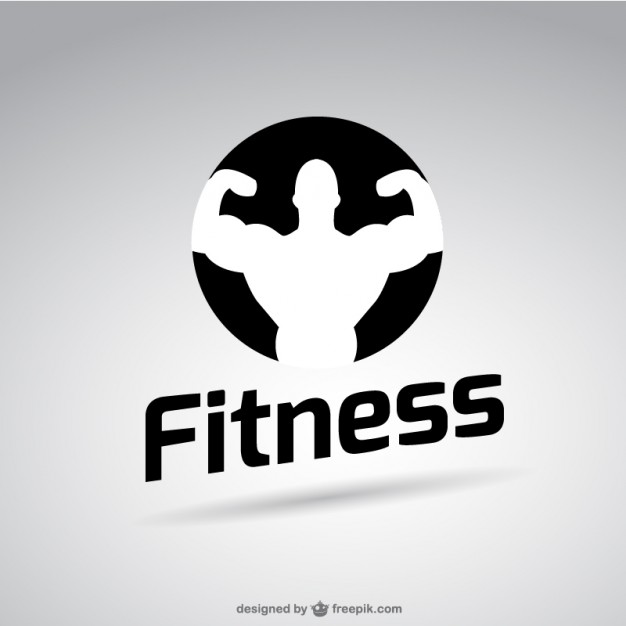 626x626 Black And White Fitness Logo Vector Free Download