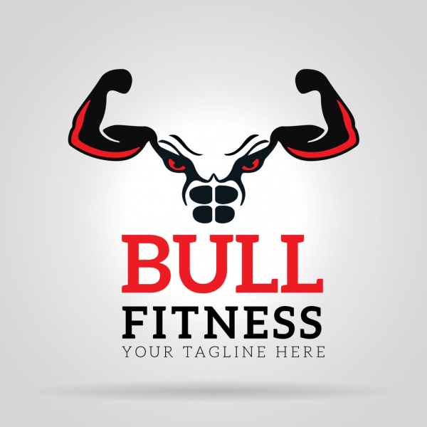 600x600 Bull Fitness Gym Logo Free Vector In Adobe Illustrator Ai ( .ai