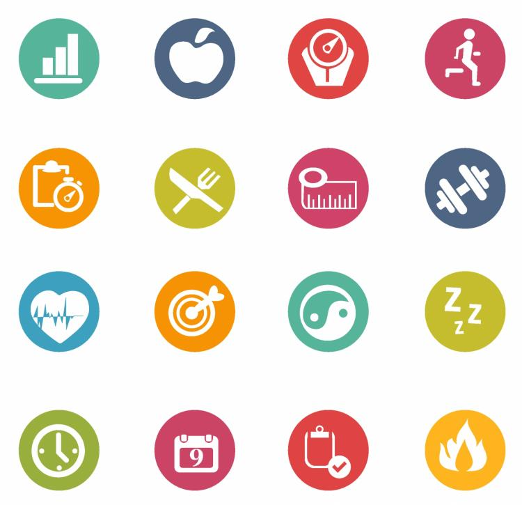 750x725 Fitness Icons Free Vector 4vector