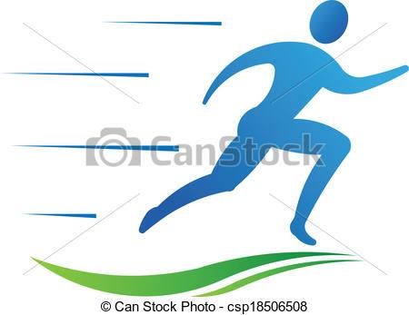 450x347 Man Running Fast. Sport Fitness Vector Vector Clipart