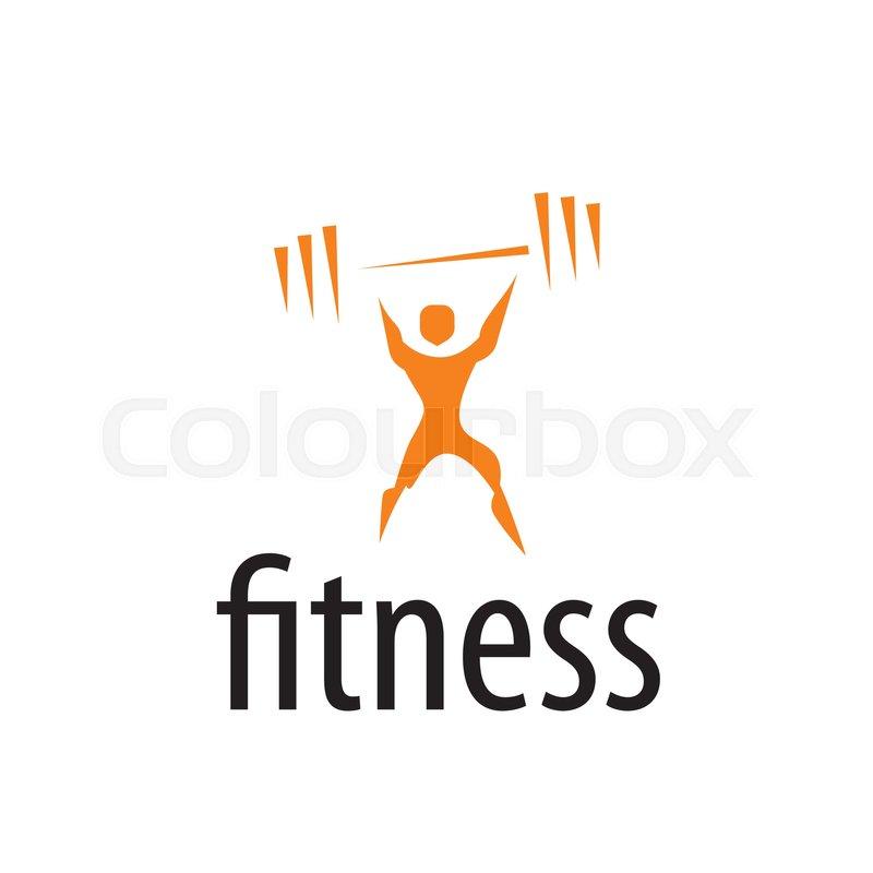 800x800 Pattern Design Logo Fitness. Vector Illustration Of Icon Stock