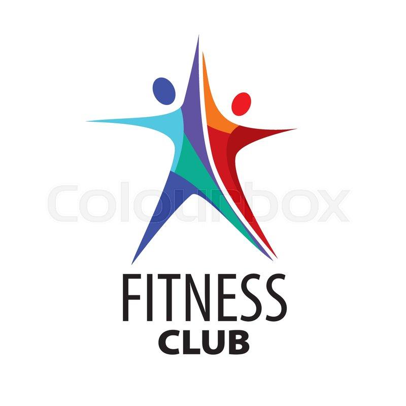 800x800 Template Design Logo Fitness. Vector Illustration Of Icon Stock